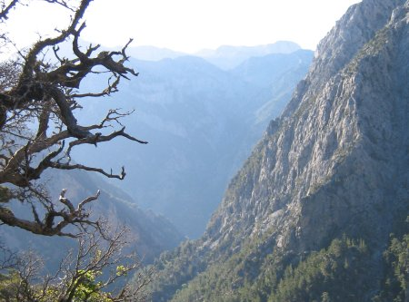Samaria gorge - near the top